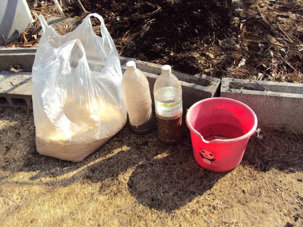 堆肥に必要な材料